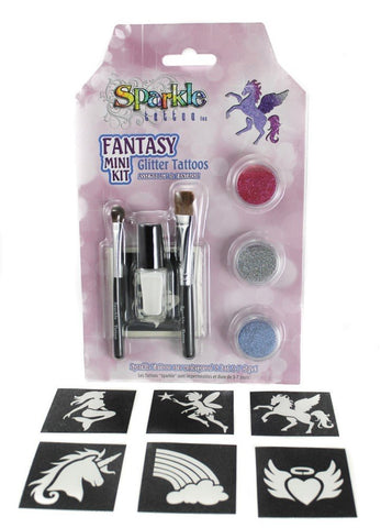 Fantasy Mini Stencil Kit - Glitter Tattoo