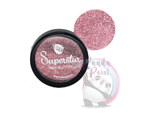 Cosmetic Bio-Glitter Fine Rose Pink 6 ml Jar