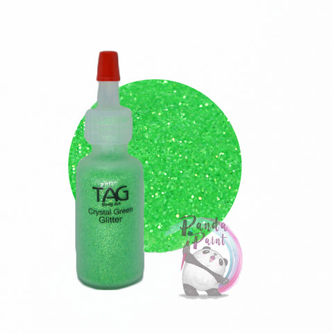 TAG Crystal Green Glitter 15ml (12g) Puffer Bottle