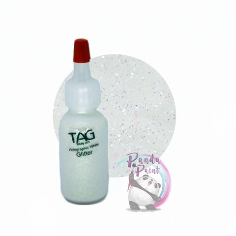 TAG Holographic White Glitter 15ml (12g) Puffer Bottle
