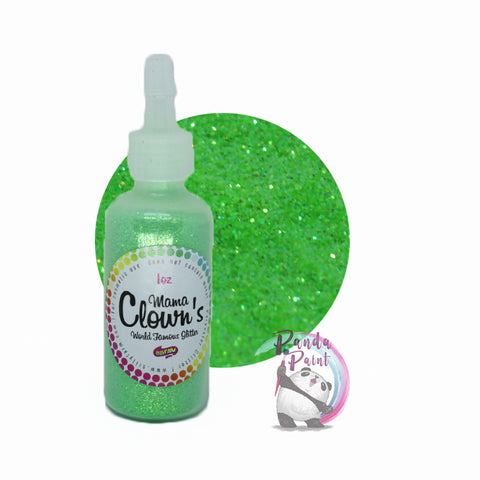 Green Glitter - Mama Clown - 1oz Poofer Bottle