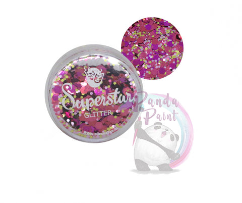 Superstar Loose Glitter - Pink Lady Chunky Mix