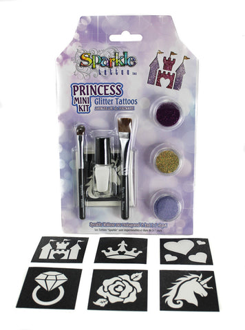 Princess Mini Stencil Kit - Glitter Tattoo