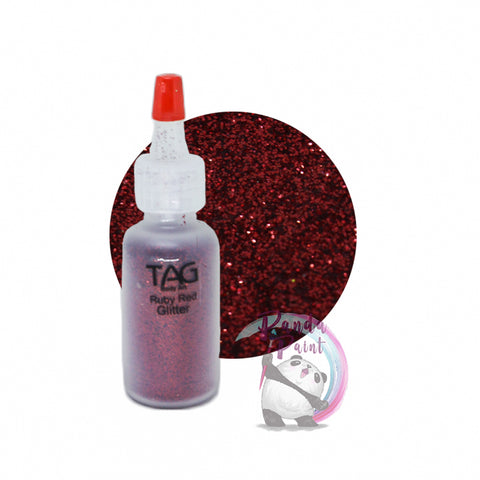 TAG Ruby Red Glitter 15ml (12g) Puffer Bottle