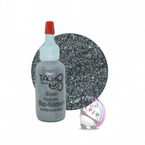 TAG Cosmetic Bio-Glitter Silver15ml (12g) Puffer Bottle