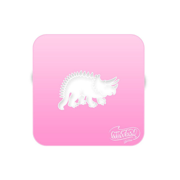 Triceratops - Pink Power Stencil