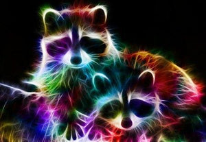 Raccoon Colors Diamond Painting Kit - DIY