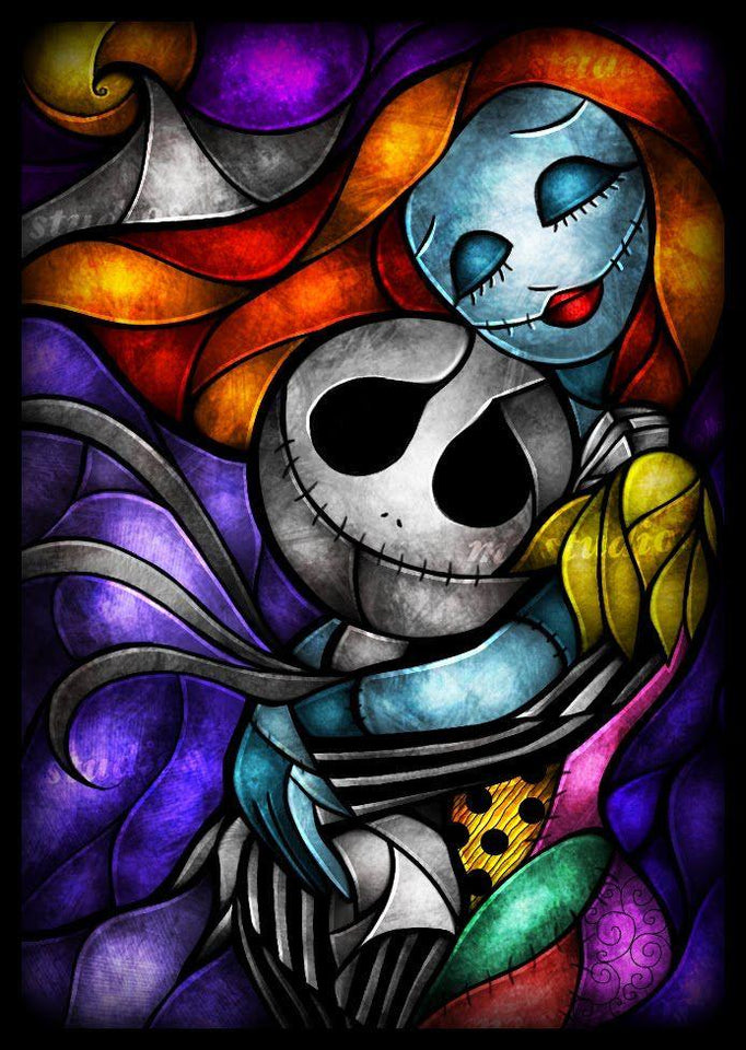 Nightmare Before Christmas Love Diamond Painting Kit - DIY