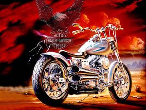 Harley Eagle Flight Diamond Painting Kit - DIY