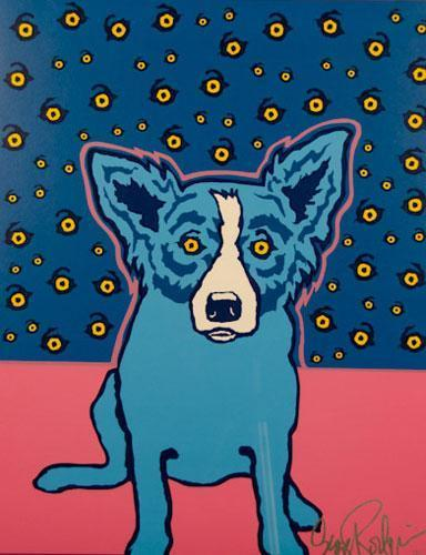 Blue Dog Diamond Painting Kit - DIY