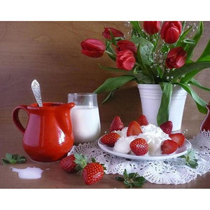 Flowers and Breakfast Diamond Painting Kit - DIY