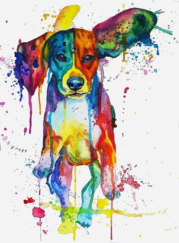 Beagle Colors Diamond Painting Kit - DIY