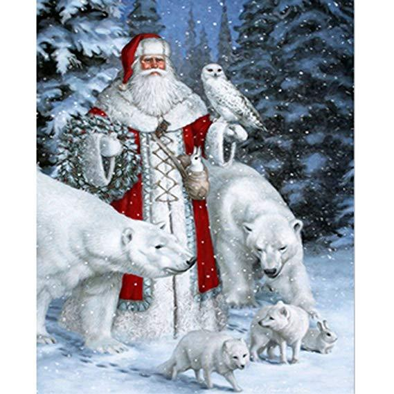 Santa Claus Bear Diamond Painting Kit - DIY