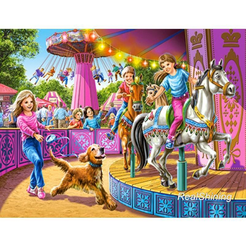 Carousel Family Diamond Painting Kit - DIY