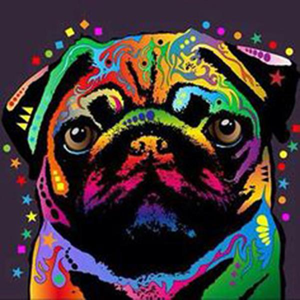 Pug Dog Colors Diamond Painting Kit - DIY
