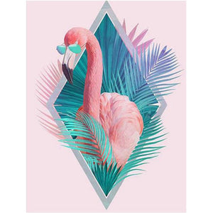 Cool Flamingo Diamond Painting Kit - DIY