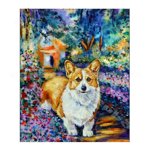 Corgi Cut Dog Diamond Painting Kit - DIY