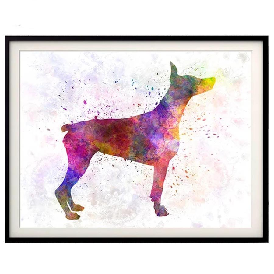 Doberman Colors Diamond Painting Kit - DIY