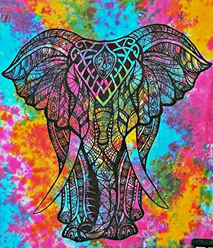 Elephant Abstract Colors Diamond Painting Kit - DIY