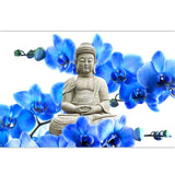 Flowers And Buddha Diamond Painting Kit - DIY