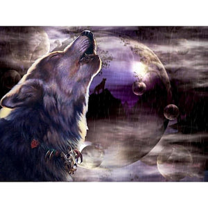 Howling Wolf Diamond Painting Kit - DIY