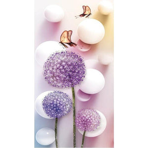 Purple Dandelion Diamond Painting Kit - DIY