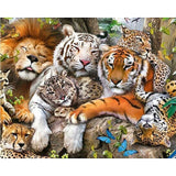 Lion Family Together Diamond Painting Kit - DIY