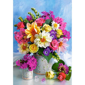 Bright Flowers Diamond Painting Kit - DIY