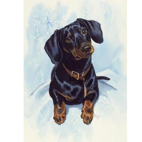 Snow In The Dog Diamond Painting Kit - DIY