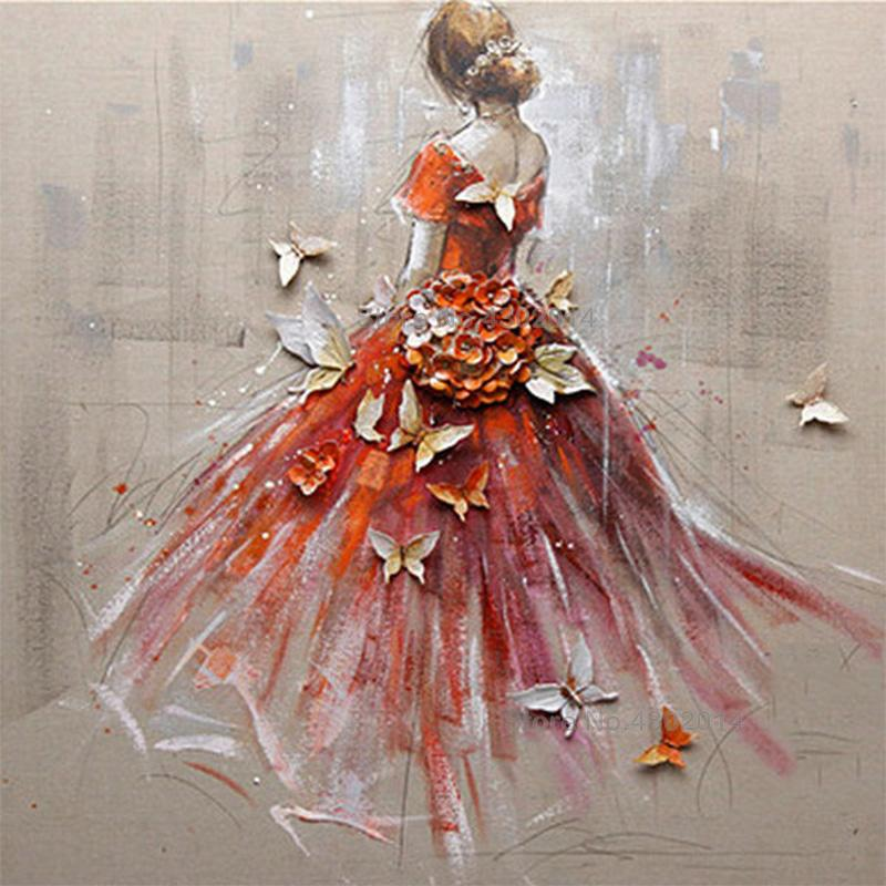Red Ballet Girl Diamond Painting Kit - DIY