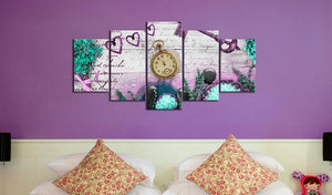 Flowers Clock Diamond Painting Kit - DIY