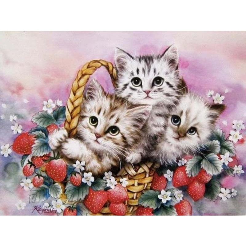 Cat In The Basket Diamond Painting Kit - DIY