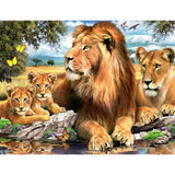 Lion Family Diamond Painting Kit - DIY