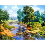 Forest River Diamond Painting Kit - DIY