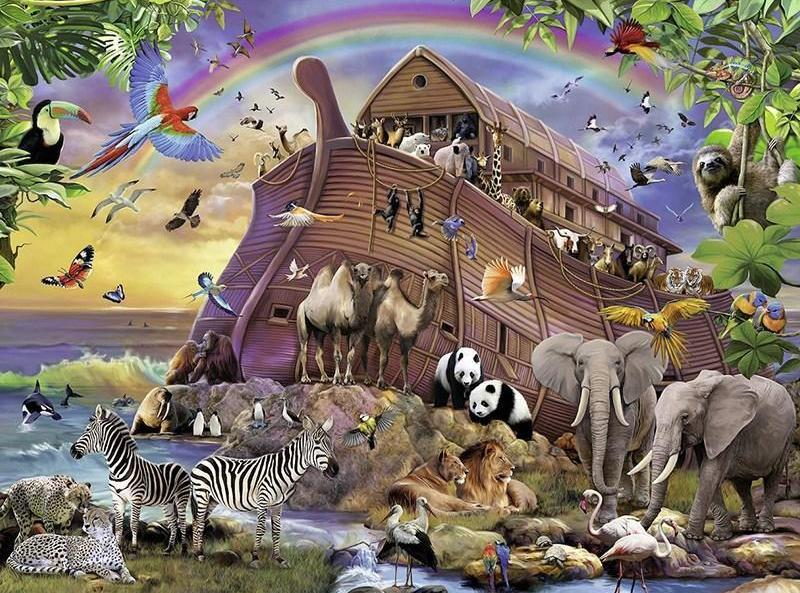 Noah's Ark Animals Diamond Painting Kit - DIY