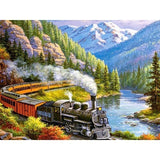 Train Landscape Diamond Painting Kit - DIY