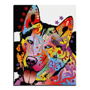 Husky Colors Diamond Painting Kit - DIY