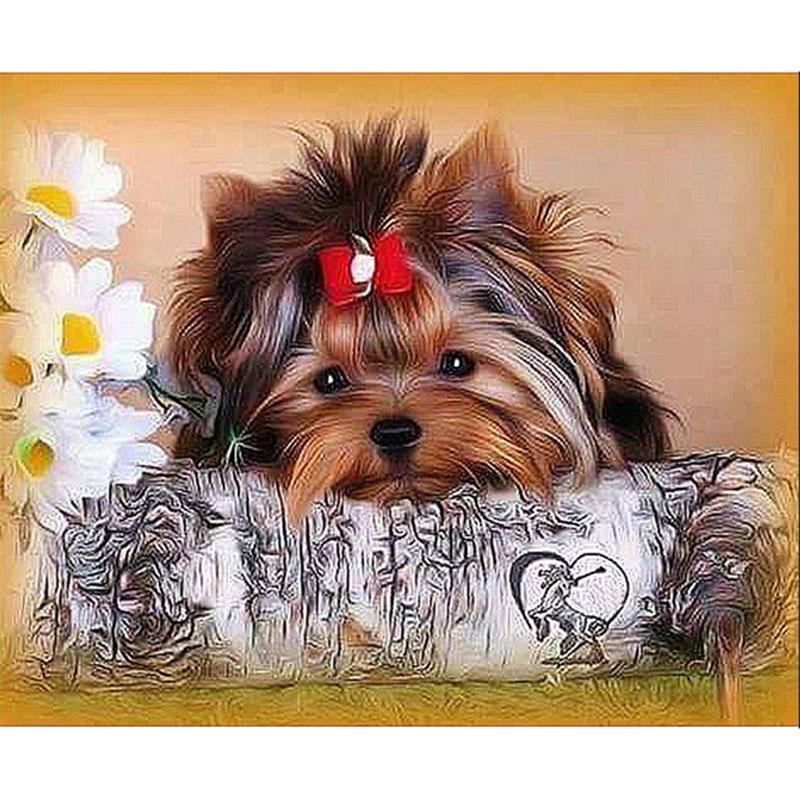Cute Dog Diamond Painting Kit - DIY