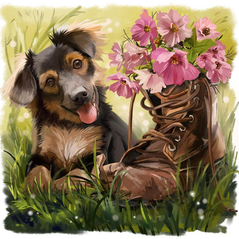 Dog shoes Diamond Painting Kit - DIY