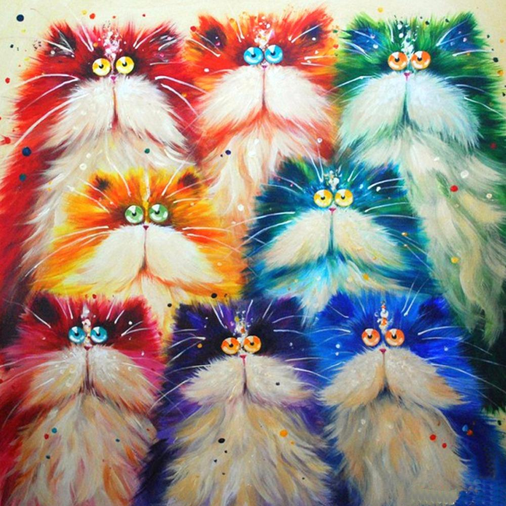 Colorful Cat Diamond Painting Kit - DIY