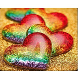 Rainbow Heart Love Diamond Painting Kit - DIY