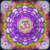 Mandala Purple And Green Diamond Painting Kit - DIY