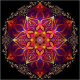 Mandala Red Diamond Painting Kit - DIY