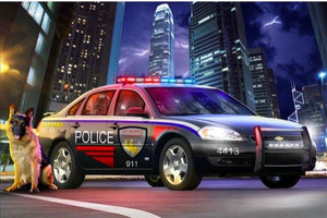 Police Car And Dog Diamond Painting Kit - DIY