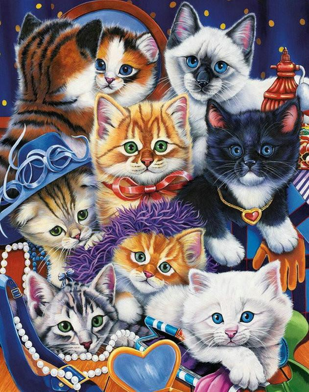 5d Cat Diamond Painting Kit Premium-7