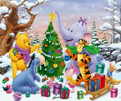 Disney Christmas Diamond Painting Kit - DIY Disney Christmas-10