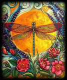 Dragonfly Colors Orange Diamond Painting Kit - DIY