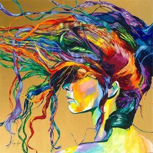 Colored Hair Girl Diamond Painting Kit - DIY
