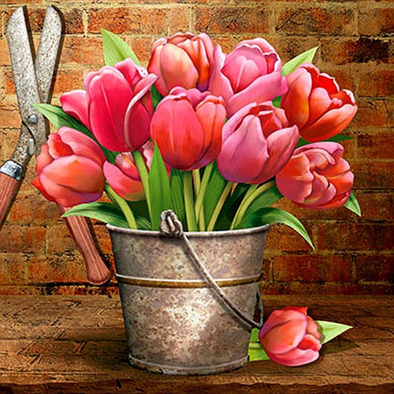 Flower Diamond Painting Kit - DIY Flower-26