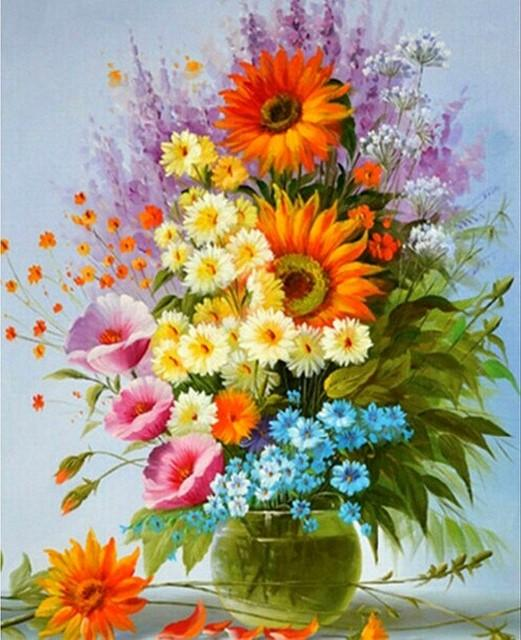 Flower Diamond Painting Kit - DIY Flower-62